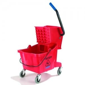 Red Mop Bucket Wringer Combo -- 1 each
