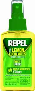 Repel Lemon Eucalyptus Natural Insect Repellent, 4-Ounce Pump Spray