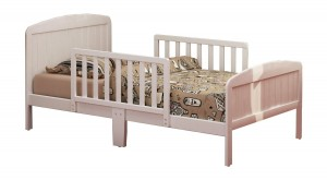 Russell Children Products Harrisburg Wood Toddler Bed, Warm White