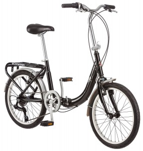 Schwinn 20-Inch Loop Folding Bike, Black