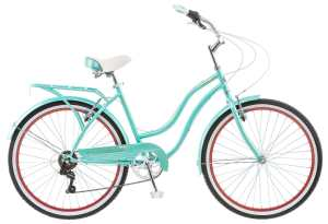 Schwinn 26 Ladies Perla 7 Speed Cruiser Bike, 26-Inch, Blue