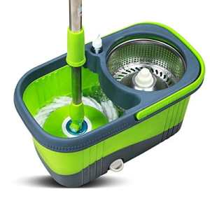 Spin Mop Bucket System By Heritage Home Products Includes 3 Mop Heads.stainless Steel Deluxe Rolling Spin Mop Designed to Last