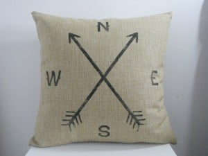 decorbox Retro Cotton Linen Throw Compass Cushion Cover Pillowcase 18 X18  45cm45cm, Compass