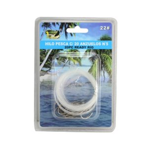 20PCS 1m Fishing Wire Line With Hooks Loop Lures Bait Fishing Rig 22# New Hot