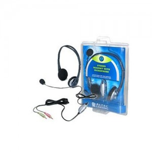 ALTEC LANSING STEREO HEADSET WITH MICROPHONE , MODEL AHS322 (black color)