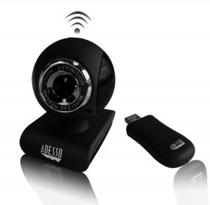 Adesso 2.4 GHz Wireless 1.3 Megapixels Webcam (CyberTrackV10)