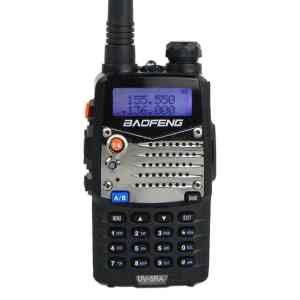 Baofeng UV5RA Ham Two Way Radio 136-174400-480 MHz Dual-Band Transceiver (Black)