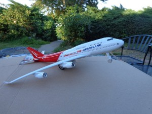 Boeing Jumbo Jet 763 Airplane Model Replica Friction Powered with Sound Big Size 14 Long 14 Wide 5 Tall