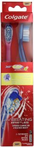 Colgate 360 Degree Surround Sonic Power Toothbrush, Soft, 2 Count (Colors May Vary)