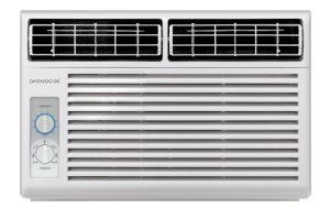 Daewoo 5000 BTU Window-mounted 115V 60Hz - Mechanical Air Conditioner with Energy Efficient Ratio 11.2