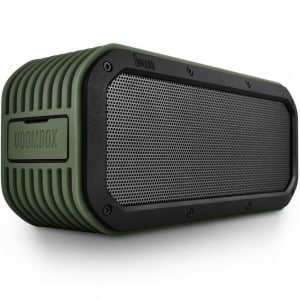 Divoom® Voombox-outdoor Portable Ultra Rugged and Water Resistant Bluetooth 4.0 Wireless Speaker with 15w Output and 12 Hous Playback Time Color Green