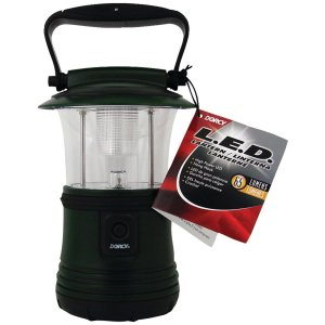 Dorcy 41-3103 LED Camping Flashlight Lantern with Hanging Hook, 65-Lumens, Green Finish