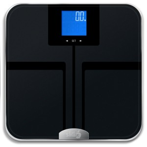 EatSmart Precision GetFit Digital Body Fat Scale w 400 lb. Capacity & Auto Recognition Technology