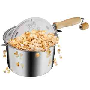 Great Northern Popcorn Original Stainless Steel Stove Top 6-12-Quart Popcorn Popper