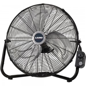 Lasko 2264QM 20-Inch Max Performance High Velocity FloorWall mount Fan, Black