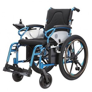Lightweight Dual Function Foldable Power Wheelchair (Polymer Li-ion Battery), Drive with Power or use as Manual Wheelchair. (Electric Motorised Wh