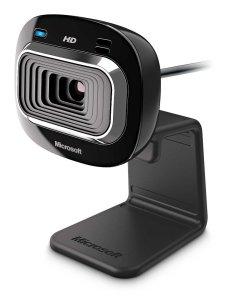 Microsoft LifeCam HD-3000 Webcam - Black (T3H-00011), 720p HD 169 Video Chat, Skype Certified
