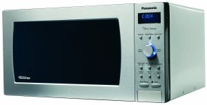 Panasonic NN-SD997S Genius Prestige 2.2 cuft 1250-Watt Sensor Microwave with Inverter Technology & Blue Readout, Stainless Steel