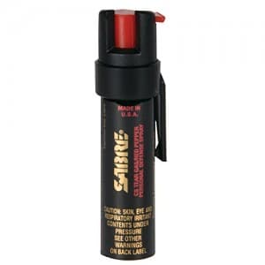 SABRE 3-IN-1 Pepper Spray - Advanced Police Strength - Compact Size with Clip (Max Protection - 25 Shots, up to 5x's more)