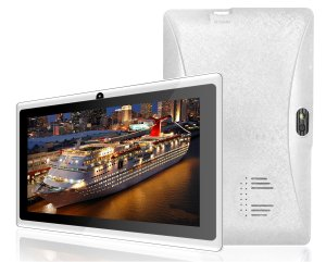 Simbans (TM) 7 Inch tablet (Quad Core, 8GB, HD, Google Android Kitkat 4.4, Dual camera) + BONUS