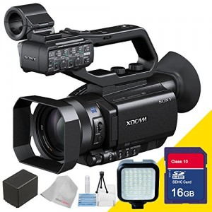 Sony Pxw-x70 Professional Xdcam Compact Camcorder with Professional Camcorder Video Flash and Extra Rechargeable Battery, 16gb Sdhc Secure Class 10 Me