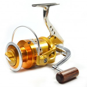 Supertrip TM Full Metal Aluminum Foot Saltwater High Speed Fishing Reels Spinning Gold and Sliver LeftRight