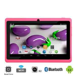Tagital® T7X 7 Quad Core Android 4.4 KitKat Tablet PC, Bluetooth, Dual Camera, Google Play Store Pre-installed, 3D Game Supported, 2015 Newest Model- Pink