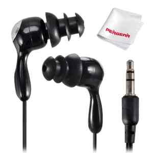 Water Sport Waterproof In-Ear Earbud Stereo Headphones for iPodiPhoneMP3 Player Black
