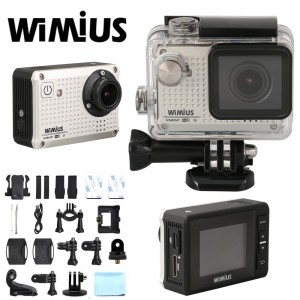 WiMiUS® S1 WIFI Sports Camera Full HD 1080P 12MP Action Camera 30M Waterproof Helmet Cam Digital Camcorder HD Car Dvr Outdoor Sports Camera(S