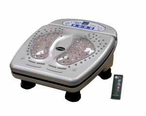 iComfort IC0907 Infrared Vibration Foot Massager, Includes Wireless Remote Control, Silver