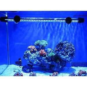 Aquarium Fish Tank Light Aquarium Decoration Submersible Lighting 30 LED 2w 28.5cm Blue Waterproof Flood Lights Bar for Fish Tank