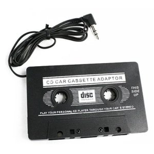 Ecoolbuy Car Cassette Tape Adapter For IPOD CD Video Black