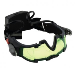 Green Lens Adjustable Elastic Band Night Vision Goggles Glasses Eyeshield M2
