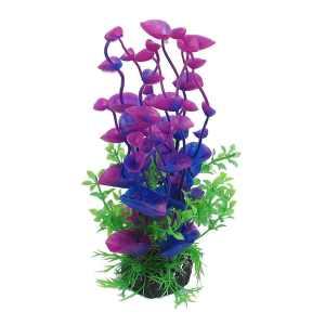 Jardin Landscaping Water Plant Decoration for Aquarium, 8.3-Inch, PurpleGreen