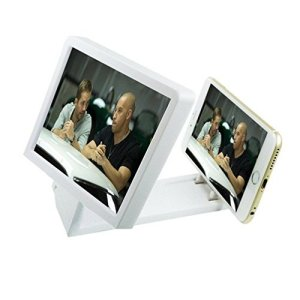 Mangood® 3D Movie Screen Magnify Portable HD Amplifier Enlarge Stand For Iphone Samsung LG HTC Smart Phone (White)