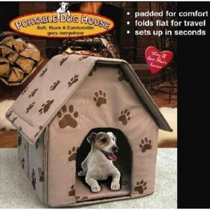 PORTABLE DOG HOUSE - Soft, warm and comfortable and goes everywhere(Assorted colors-TanBlueRed)