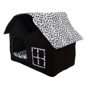 Pet house,SKL Luxury High-end Double Pet Houseblack Dog Room Cat Bed