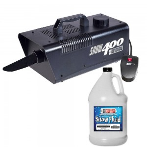 Snow Machine with one gallon of Snow Fluid - High Output. Produces the illusion of real snow. Includes remote control. Let the snow fall all season round!vvv
