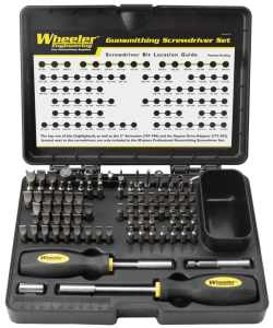 Wheeler 89-Piece Deluxe Gunsmithing Screwdriver Set, BlackYellow