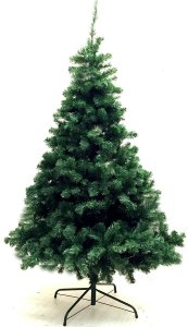 Xmas Finest 6' Feet Super Premium Artificial Christmas Pine Tree With Solid Metal Legs - Fullest (1000 Tips) Six Foot Tall Design