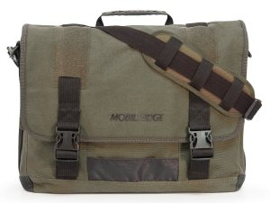 17.3-Inch Eco-Friendly Canvas Messenger Bag (Green)