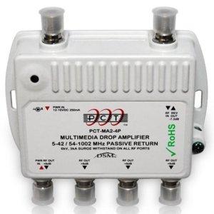 4 Port Cable TVHDTVDigital Amplifier Internet Modem Signal Booster Internet AMP