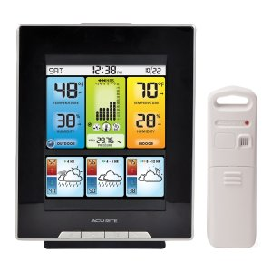 AcuRite 02007 Digital Weather Center with Morning Noon and Night Precision Forecast Thermometer, 8-Inch