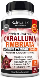 Appetite Suppressant Pure Caralluma Fimbriata Extract 1000mg All Natural Weight Loss Pills to get Slim Fast - Extreme Carb Blocker and Fat Burner