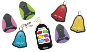 Click 'n Dig Model F6 Key Finder. 6 Receivers. Wireless RF Remote Item, Wallet Locator