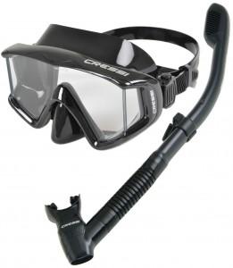 Cressi Panoramic Wide View Mask Dry Snorkel Set