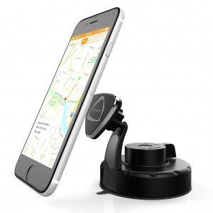 Dashboard and Windshield Magnetic Phone Holder, Roybens Universal Car Mount Cradle for Apple iPhone 5 5S 6 6S Plus 6+ 5C, Android Smartphones, Samsung Galaxy S6 Edge Note, LG, HTC, GPS, iPod (Bla