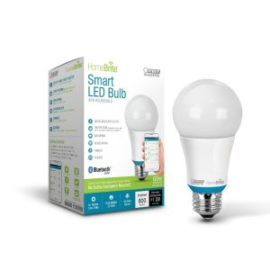 Feit Electric AOM800827LEDHBR 60W Equivalent (2700K) A19 Dimmable Bluetooth Smart HomeBrite LED Light Bulb, Soft White