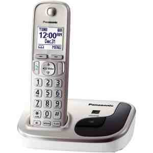 Panasonic KX-TGD210N DECT 6.0 1.9 GHz Expandable Digital Cordless Phone with 1 Handset, Champagne Gold