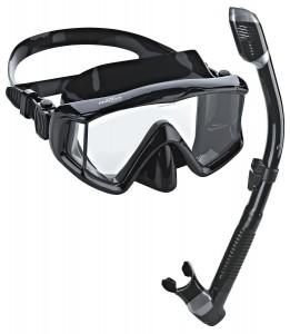 Phantom Aquatics Panoramic Scuba Mask Snorkel Set